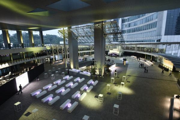 World Join Center Milano, foto della piazza allestita per un evento privato