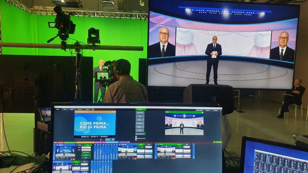 set video per evento virtuale con green screen